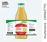 bottle label  package template... | Shutterstock .eps vector #1303637791