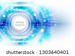 abstract global technology... | Shutterstock .eps vector #1303640401