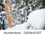 thermometer with subzero... | Shutterstock . vector #1303641337