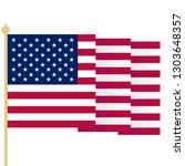 american flag  waving usa flag... | Shutterstock . vector #1303648357