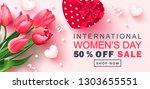 8 march happy women's day sale... | Shutterstock .eps vector #1303655551