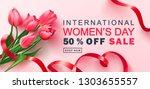 8 march happy women's day sale... | Shutterstock .eps vector #1303655557