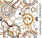 seamless pattern with belts and ...   Shutterstock .eps vector #1303656247