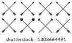 crossed arrows vector... | Shutterstock .eps vector #1303664491