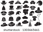 vector collection of hats ... | Shutterstock .eps vector #1303665661