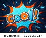 colorful banner with text cool... | Shutterstock .eps vector #1303667257