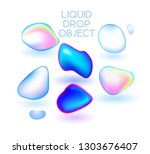 colored liquid vector shapes.... | Shutterstock .eps vector #1303676407