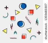 simple elegant memphis design...   Shutterstock .eps vector #1303683307