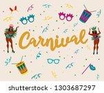 popular event in brazil.... | Shutterstock .eps vector #1303687297