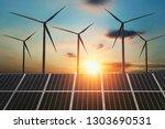 concept clean energy. wind... | Shutterstock . vector #1303690531
