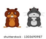 set of animals in vector... | Shutterstock .eps vector #1303690987