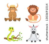 set of animals in vector... | Shutterstock .eps vector #1303691014