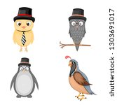 set of animals in vector... | Shutterstock .eps vector #1303691017