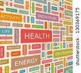 health. word collage. vector... | Shutterstock .eps vector #130369175