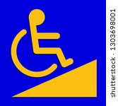 disabled signs blue colors... | Shutterstock .eps vector #1303698001