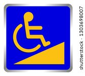 disabled signs blue colors... | Shutterstock .eps vector #1303698007