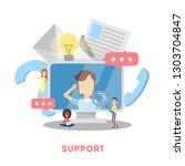 technical support concept. idea ... | Shutterstock .eps vector #1303704847