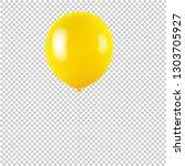 yellow balloon isolated... | Shutterstock .eps vector #1303705927