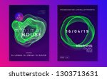 trance party. dynamic gradient... | Shutterstock .eps vector #1303713631