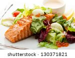 Grilled Salmon With Vegetables...