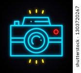 neon camera sign. bright photo... | Shutterstock .eps vector #1303720267