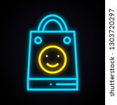 bright neon shopping package... | Shutterstock .eps vector #1303720297