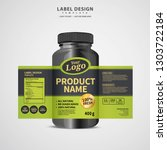 bottle label  package template... | Shutterstock .eps vector #1303722184
