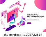 seo analytic and marketing team ...   Shutterstock .eps vector #1303722514
