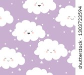 seamless pattern with pretty... | Shutterstock .eps vector #1303723594