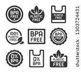bpa plastic free icons set on... | Shutterstock .eps vector #1303724431