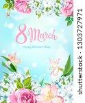 happy international women's day ... | Shutterstock .eps vector #1303727971