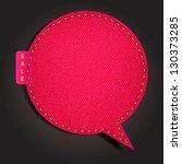 Speech Bubble Of Denim Fabric...
