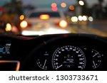 speedometer in modern vehicle... | Shutterstock . vector #1303733671