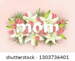 happy mothers day design  3d... | Shutterstock .eps vector #1303736401