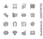 simple icon set casino ... | Shutterstock .eps vector #1303739731