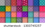seamless pattern collection.... | Shutterstock .eps vector #1303745257