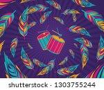 popular event in brazil.... | Shutterstock .eps vector #1303755244