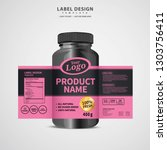 bottle label  package template... | Shutterstock .eps vector #1303756411