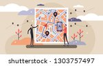 gps navigation vector...   Shutterstock .eps vector #1303757497