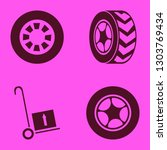 tyre icon set with wheel ... | Shutterstock .eps vector #1303769434