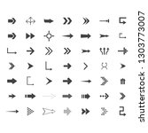 arrows vector collection with... | Shutterstock .eps vector #1303773007