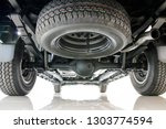 Car Spare Tire And Rear Axle...