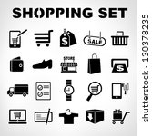 shopping icons set  e commerce... | Shutterstock .eps vector #130378235