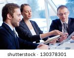group of confident business... | Shutterstock . vector #130378301