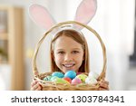 easter  holidays and people... | Shutterstock . vector #1303784341
