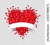 heart with white ribbon with... | Shutterstock .eps vector #1303788871