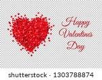 valentines day banner... | Shutterstock .eps vector #1303788874