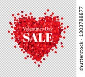 sale banner valentines day with ... | Shutterstock .eps vector #1303788877