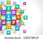 social media icons vector... | Shutterstock .eps vector #130378919