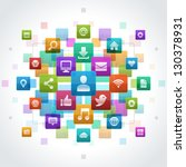 social media icons vector... | Shutterstock .eps vector #130378931